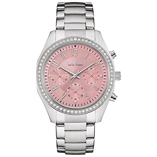 Caravelle New York Damen Armbanduhr Chronograph Quarz Edelstahl 43L191