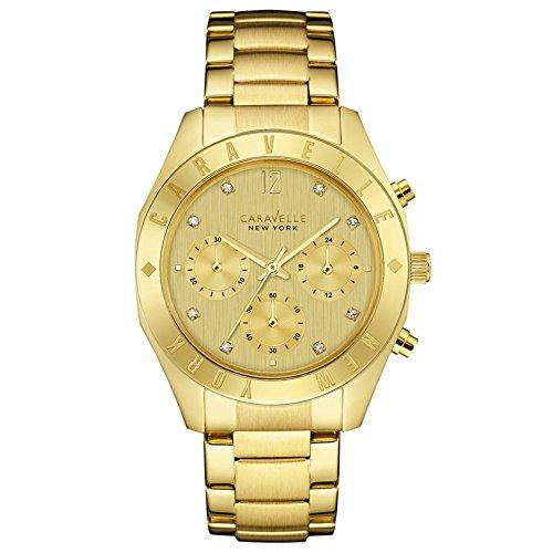 Caravelle New York Damen Armbanduhr Chronograph Quarz Edelstahl 44L213
