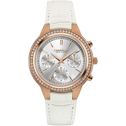 Caravelle New York Damen Armbanduhr Chronograph Quarz Leder 44L214