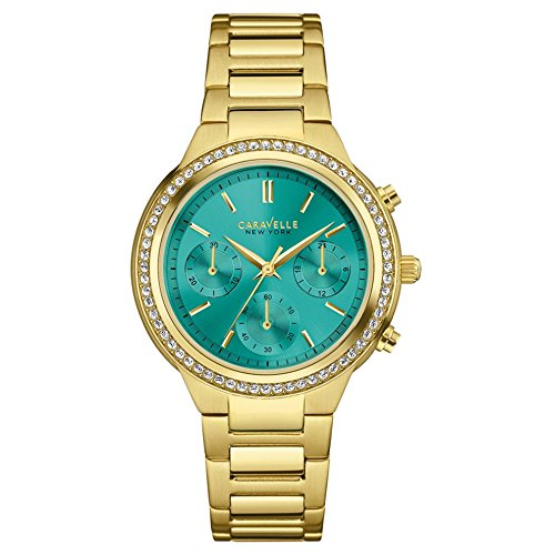 Caravelle New York Damen Armbanduhr Chronograph Quarz Edelstahl 44L215