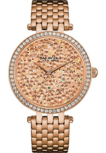 Caravelle New York T Bar Crystal Rock Damen Armbanduhr 44L222