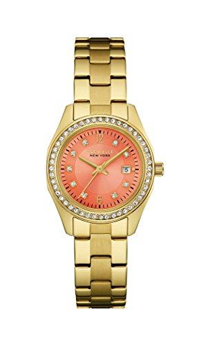 Caravelle New York Damen Armbanduhr Analog Quarz Edelstahl 44M110