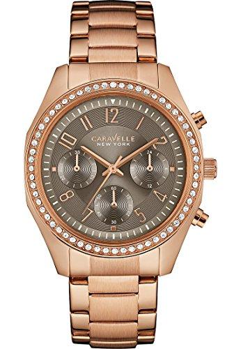 Caravelle New York Damen Armbanduhr Analog Quarz One Size taupe rose