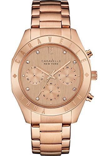 Caravelle New York Damen Armbanduhr Analog Quarz One Size rose rose