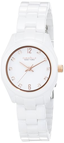 Caravelle New York Analog Quarz Keramik 45L159