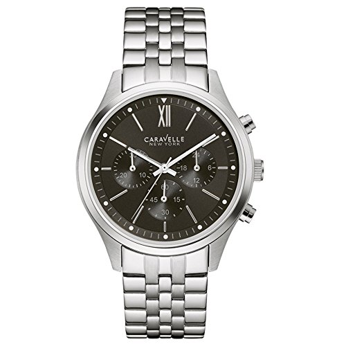 Caravelle New York Chronograph Quarz Edelstahl 43A133