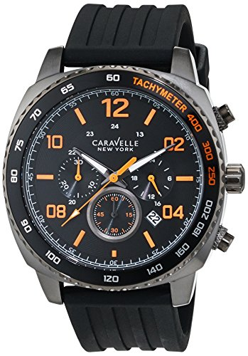 Caravelle New York Chronograph Quarz Silikon 45B141