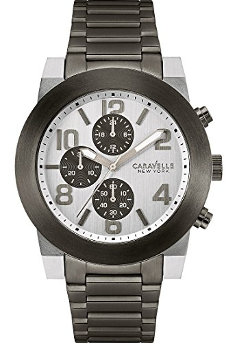 Caravelle New York Analog Quarz One Size silber schwarz