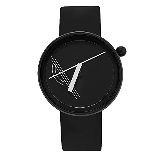 Projects Watches Diagram Black Quarz Edelstahl Schwarz Weib Silikon Unisex Uhr