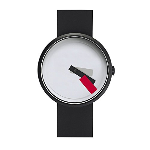 Projects Watches Denis Guidone Suprematism Red Edelstahl IP Schwarz Weib Rot Silikon Uhr Unisex