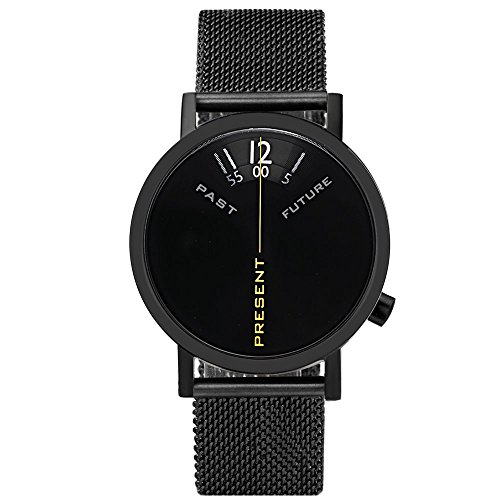 Projects Watches Past Present Future Black Mesh Edelstahl IP Schwarz Stahlnetz Unisex Uhr