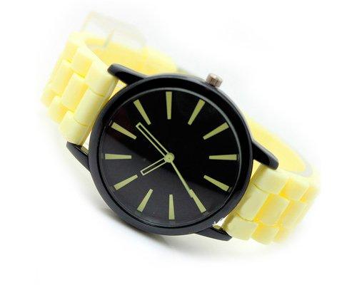 Geneva Unisex Silikon Liebhaber Armbanduhren Analoges Maenner Quarzuhr Vatertag Geschenkuhr Modeuhr Beige
