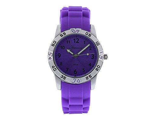 Garonne Analog Quartz Silikon Violett KQ34Q419