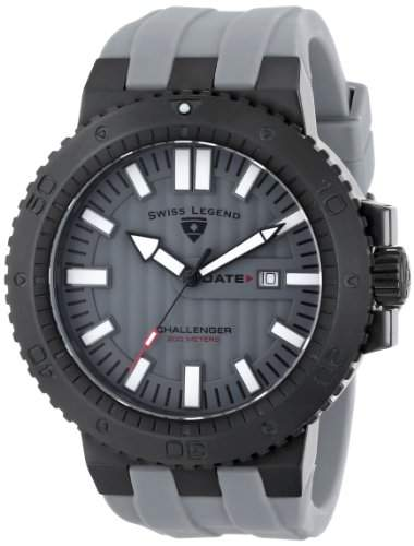 Swiss Legend Herren 10126-BB-01 Challenger Analog Display Swiss Quartz Grey Armbanduhr