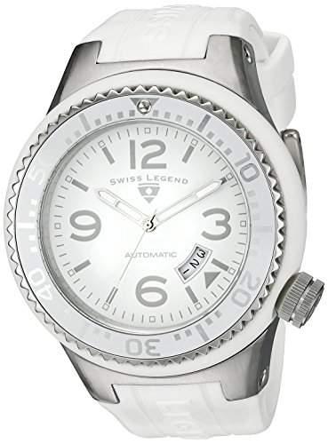 Swiss Legend-sl-11819a-02-wht-w-Zeigt Herren-Automatische Armbanduhr EE5002Analog Silikon Weiss