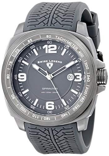 Swiss Legend Herren 21045-GM-014 Sprinter Analog Display Swiss Quartz Grey Armbanduhr