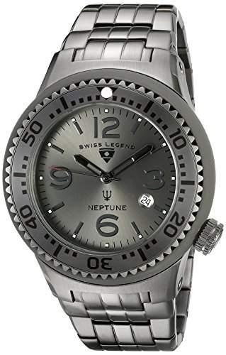 Swiss Legend Neptune Force Herren-Armbanduhr 48mm Aluminium Schweizer Quarz 21848P-GM-104-GRYA