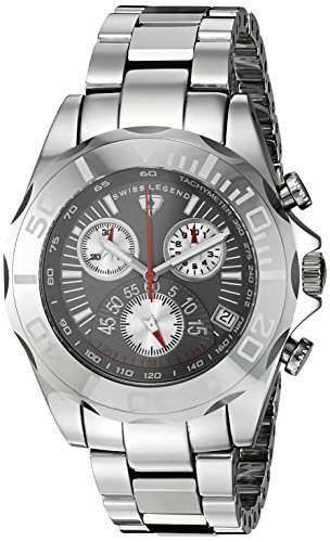 Swiss Legend Tungsten Pro Herren-Armbanduhr 45mm Armband Wolfram Silber + Gehäuse Schweizer Quarz T8010-14