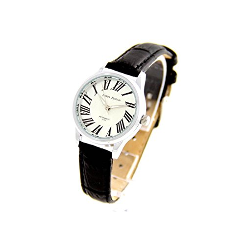 Damen Armbanduhr mit Armband Leder schwarz Jasmin 2604