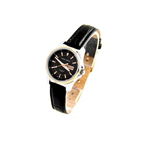 Damen Armbanduhr mit Armband Leder Farbe Schwarz Jasmin 2758