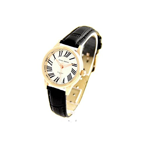 Damen Armbanduhr mit Armband Leder schwarz Jasmin 518