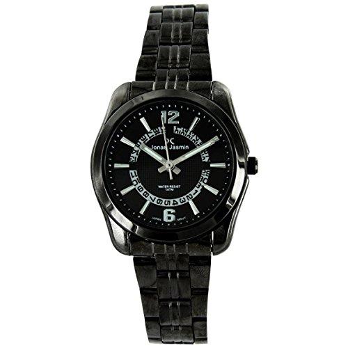 Jonas Damen Damen Armbanduhr Stahl schwarz Jasmin 2528