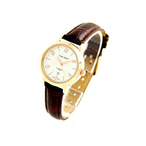Damen Originelle Armbanduhr mit Armband Leder Schokolade Jasmin 987