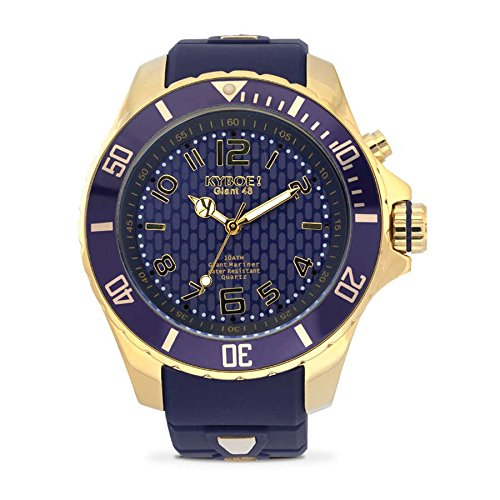 KYBOE Damen Armbanduhr Analog gold Miyota Gummi blau kyg 002 48