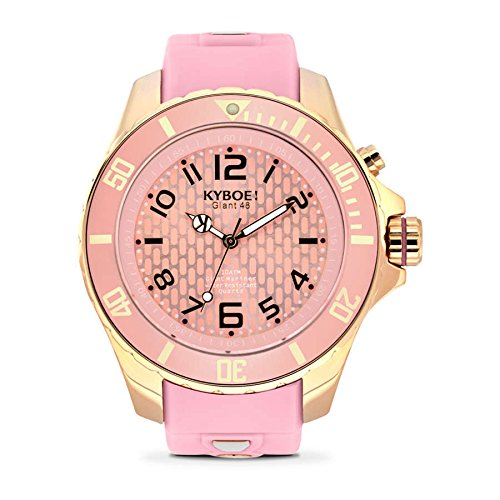 Kyboe Rose Analog Quartz Gummi Rosa RG 011 48