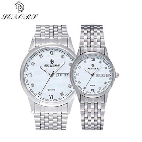 Valentinstag Geschenke hansee Lovers Uhren Edelstahl Band Paar Kristall rhinestore Armbanduhr luxurioeser Silber