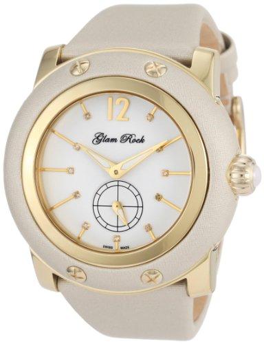 Glam Rock Damen GR10049 Miami Diamant Akzent Beige Techno Silk ansehen