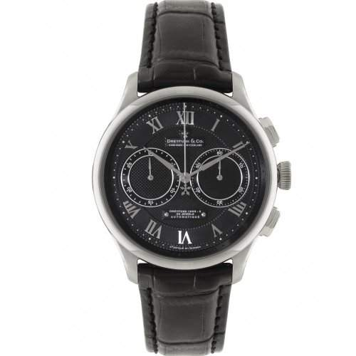 Dreyfuss & Co Mens 25 Jewels Automatic Silver Dial Watch- DGS0009410