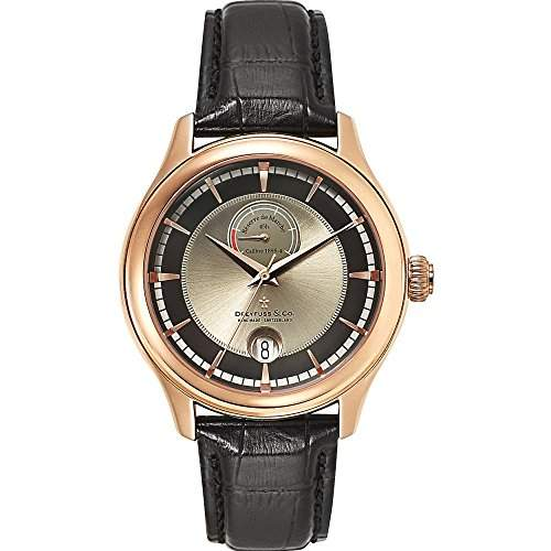 Dreyfuss & Co Watches DGS0011304 Gents Reserve De Marche Rose Gold Tone Swiss Automatic Watch