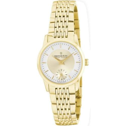 Dreyfuss & Co Ladies Gold Plated Bracelet Watch DLB0000203