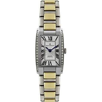 Dreyfuss & Co Ladies Hand Made Diamond Encrusted Two Tone Bracelet Watch - DLB00052D01