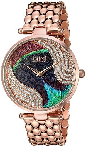 Buergi Armbanduhr Analog Quarz Edelstahl BUR162RG Rose Gold