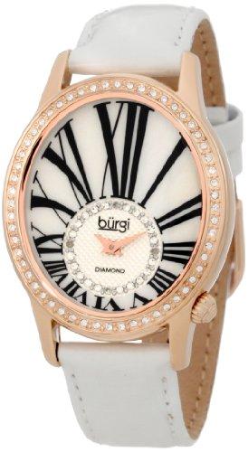 Buergi Armbanduhr Analog Schweizer Quarz BUR058WT White Standard