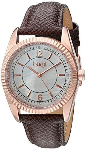 Buergi Armbanduhr BUR167GY Brown Standard