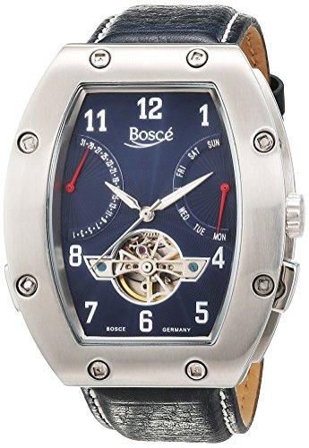 Bosce Herren Armbanduhr Analog Automatik Leder HQ22061 B