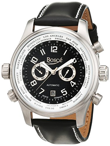 Bosce Herren Armbanduhr Analog Automatik Leder HQ22233 S