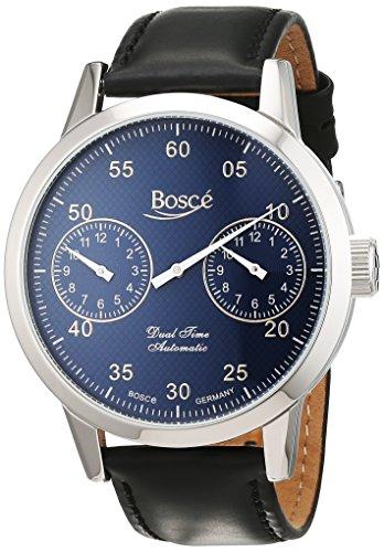 Bosce Herren Armbanduhr Analog Automatik Leder HQ22237909182BL