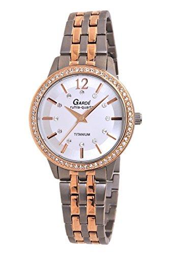 Garde by Ruhla Uhr Damen Titan Armbanduhr Modell Elegance 3064 1 mit Similibesatz