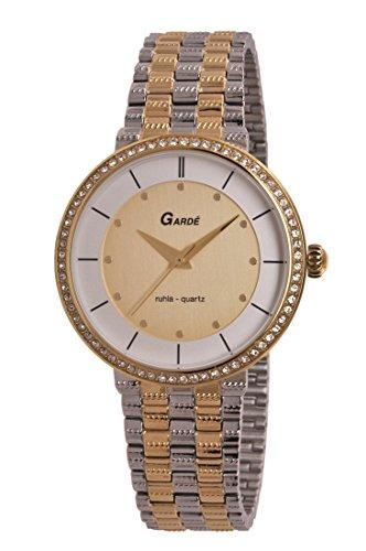 Garde by Ruhla Uhr Damen Edelstahl Armbanduhr Modell Elegance 73143 mit Similisteinen