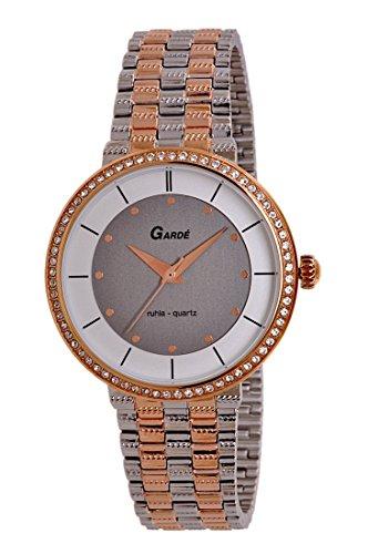 Garde by Ruhla Uhr Damen Edelstahl Armbanduhr Modell Elegance 73141 mit Similisteinen