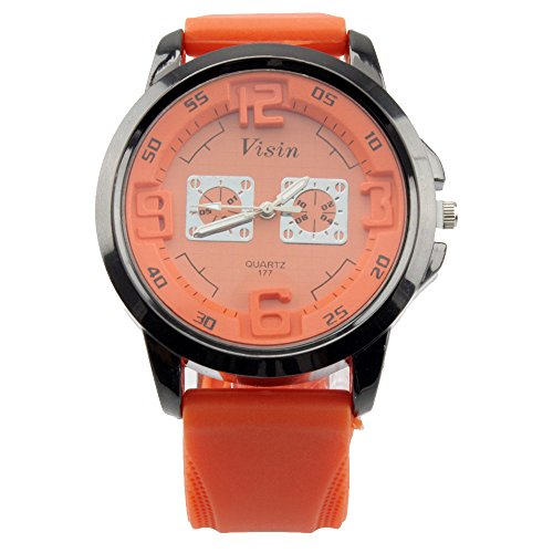 Bear Motion Design Casual Sport Armbanduhr bmwh070 mit Zifferblatt Orange Teller
