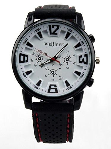 Bear Motion Design Casual Sport Armbanduhr bmwh071 mit weissem Zifferblatt Teller