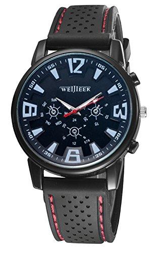 Bear Motion Design Casual Sport Armbanduhr bmwh071 mit schwarzem Zifferblatt Teller