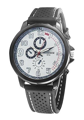 Bear Motion Design Casual Sport Armbanduhr wh078 mit weissem Zifferblatt Teller