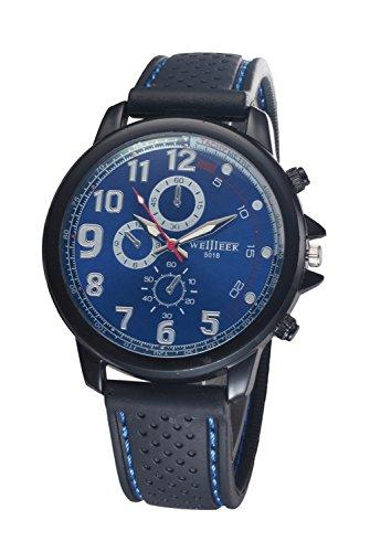 Bear Motion Design Casual Sport Armbanduhr wh078 mit Blau Zifferblatt Teller