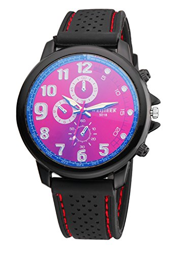 Bear Motion Design Casual Sport Armbanduhr wh078 mit Rot Zifferblatt Teller